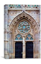 Church door, Canvas Print