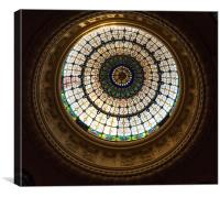 Dome roof, Canvas Print