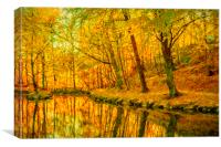 Helsingborg Woodlands Digital Painting, Canvas Print