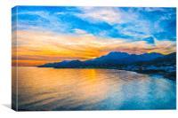 Makrygialos Sunset Digital Painting, Canvas Print