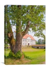 Hovdala Slott behind tree, Canvas Print