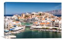 Agios Nikolaos Harbour, Canvas Print