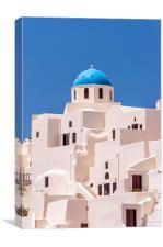 Santorini Oia Church and apartments, Canvas Print