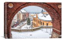 Helsingborg Winter Through the Archway, Canvas Print