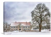 Hovdala Castle in Winter, Canvas Print