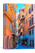 Rome Street Painting, Canvas Print