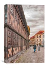 Malmo Old Town Street, Canvas Print