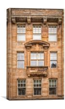Glasgow Tenement Facade, Canvas Print