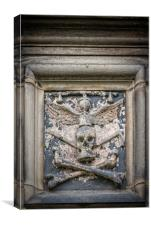 Glasgow Cathedral Stone Skull, Canvas Print