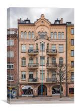 Helsingborg City Centre Building Facade, Canvas Print