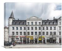 Helsingborg Main Street Building Facade, Canvas Print