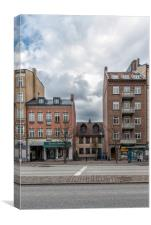 Helsingborg Various Building Facades, Canvas Print