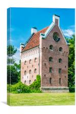 Borgeby Castle Tower, Canvas Print
