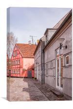 Helsingor Little Street, Canvas Print