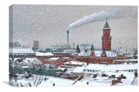 Helsingborg Cityscape in Winter Weather, Canvas Print