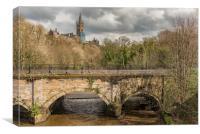 Glasgow River Kelvin, Canvas Print