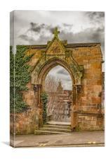 Glasgow Rottenrow Gardens Entrance, Canvas Print