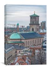 Copenhagen Vor Frue Kirke, Canvas Print