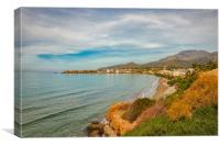 Makrygialos Beach Coastline, Canvas Print