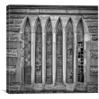 Broken Church Windows, Canvas Print