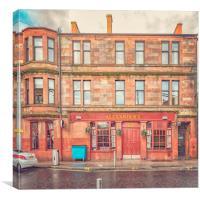 Clydebank Alexanders Bar, Canvas Print