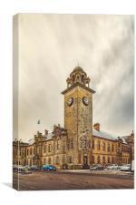 Clydebank Town Hall Corner, Canvas Print