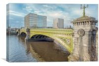 Glasgow Albert Bridge, Canvas Print