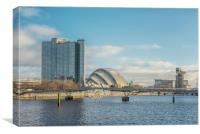 Glasgow Clydeside Cityscape, Canvas Print