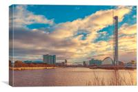 Glasgow Scotland Cityscape, Canvas Print
