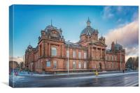 Govan Town Hall Left Side View, Canvas Print