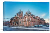 Govan Town Hall Right Side View, Canvas Print