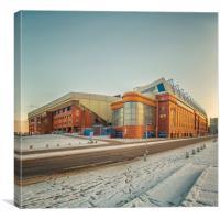 Rangers Ibrox Stadium Road, Canvas Print