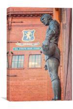 Rangers Ibrox Stadium Statue, Canvas Print