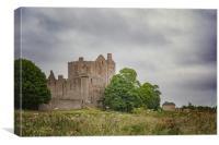 Craigmillar Castle in Edinburgh, Canvas Print