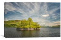Factors Isle on Loch Katrine, Canvas Print