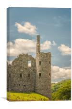 Kilchurn Castle Corner Turret, Canvas Print