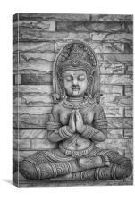 Thai Buddhist Carving, Canvas Print