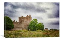 Craigmillar Castle Digital Painting, Canvas Print