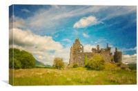 Kilchurn Castle Landscape Digital Painting, Canvas Print