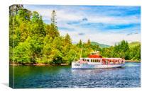 Loch Katrine Steamship Digital Painting, Canvas Print