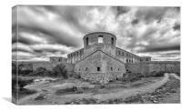 Borgholm Castle Ruin Panorama, Canvas Print