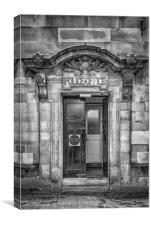 Clydebank Former Police Station Entrance Mono, Canvas Print