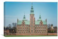 Copenhagen Rosenborg Castle Back Facade, Canvas Print
