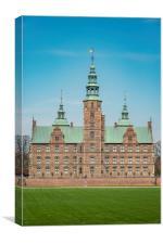 Copenhagen Rosenborg Castle Facade, Canvas Print
