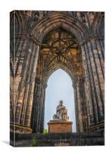 Edinburgh Sir Walter Scott Monument, Canvas Print
