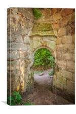 Rosslyn Castle Forest Entry, Canvas Print