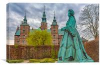 Statue at Rosenborg Castle, Canvas Print