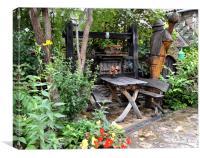 Country Garden Dining , Canvas Print