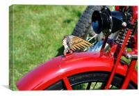 Motorcycle Indian, Canvas Print