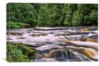 Rushing River Avon, Canvas Print